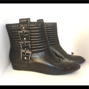 7 For all mankind ankle boots w/ buckles sz 6 1/2